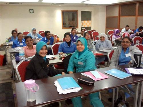 Staffs receiving training at NKF Training Centre
